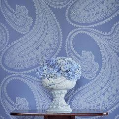 Cole & Son Rajapur Flock Hyacinth Wallpaper