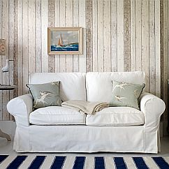 Albany Wood Panelling Natural Wallpaper