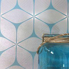 Albany Vibration Duck Egg Wallpaper