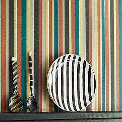 Little Greene Colonial Stripe Morocco Wallpaper