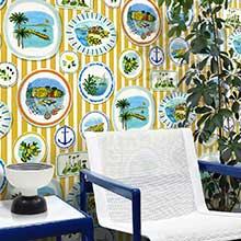 Little Greene Colonial Stripe Morocco Wallpaper