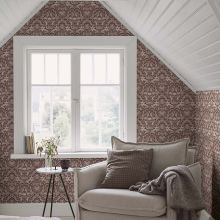 Arthouse Folk Floral Grey Wallpaper