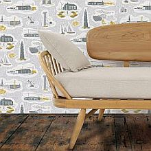 Mini Moderns Dungeness Concrete Wallpaper - Product code: AZDPT023CO