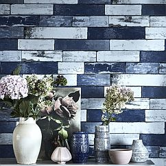 Albany Berkeley  Navy Wallpaper - Product code: 98464