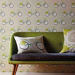 Scion Cykel Ivy, Apple and Slate Wallpaper