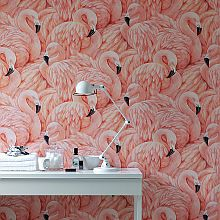 Albany Flamingos Pink Wallpaper