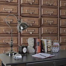 Albany Vintage Drawers Brown Wallpaper