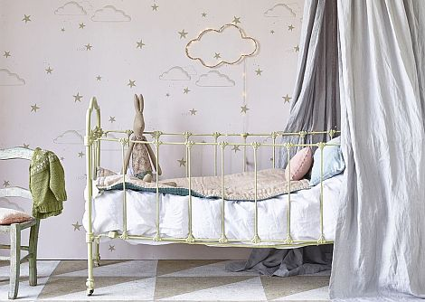 Hibou Home Starry Sky Pr/G Pale Rose / Gold  Wallpaper