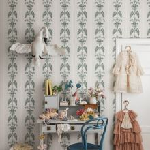 Arthouse Folk Floral Blue Wallpaper - Product code: 676002