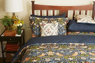 Morris bedding - now at wallpaperdirect.