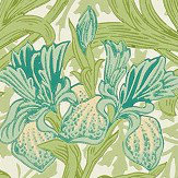 Morris Iris Fennel / Slate Wallpaper - Product code: WR8042/1