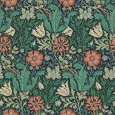 Morris Compton Indigo / Russet Wallpaper - Product code: WR7675/3