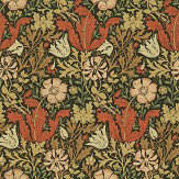 Morris Compton Brown / Orange Wallpaper - Product code: WR7675/2