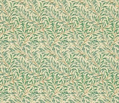 Morris Willow Bough Minor Blue Green Wallpaper Main Image
