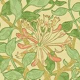 Morris Honeysuckle Green / Coral / Pink Wallpaper - Product code: WM7611/5