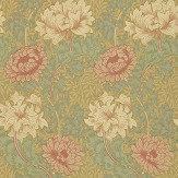 Morris Chrysanthemum Green / Pink Wallpaper - Product code: WM7612/3