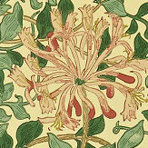 Morris Honeysuckle Green / Pink Wallpaper - Product code: WM7611/4