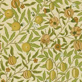 Morris Fruit Orange / Green / Brown Wallpaper