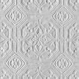 Anaglypta Derby / Classical Paintable White Wallpaper - Product code: RD124