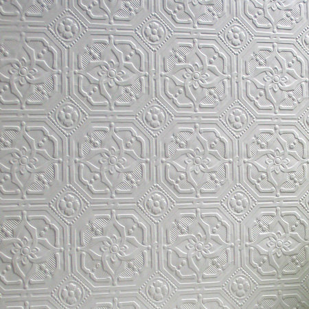 Anaglypta Derby / Classical Paintable White Wallpaper extra image