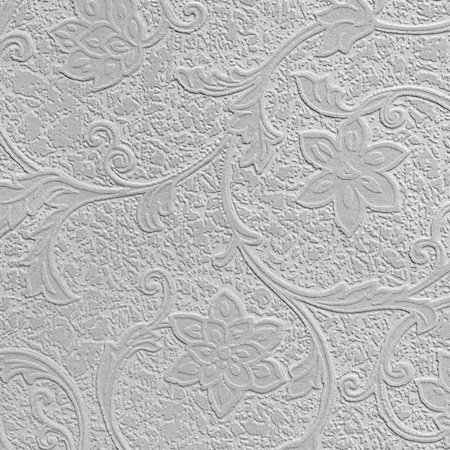 Heaton Wallpaper - Paintable White - by Anaglypta