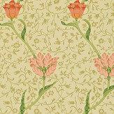 Morris Garden Tulip Vanilla / Russet Wallpaper - Product code: WM8552/2