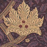 Morris Windrush Aubergine / Wine Wallpaper