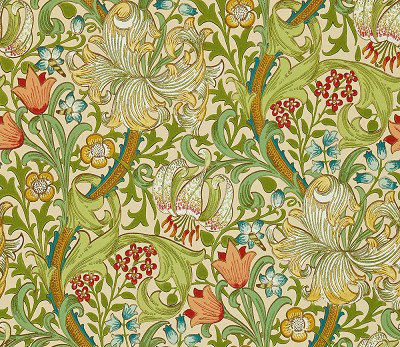 Golden Lily By Morris Pale Biscuit Wallpaper Wallpaper Direct