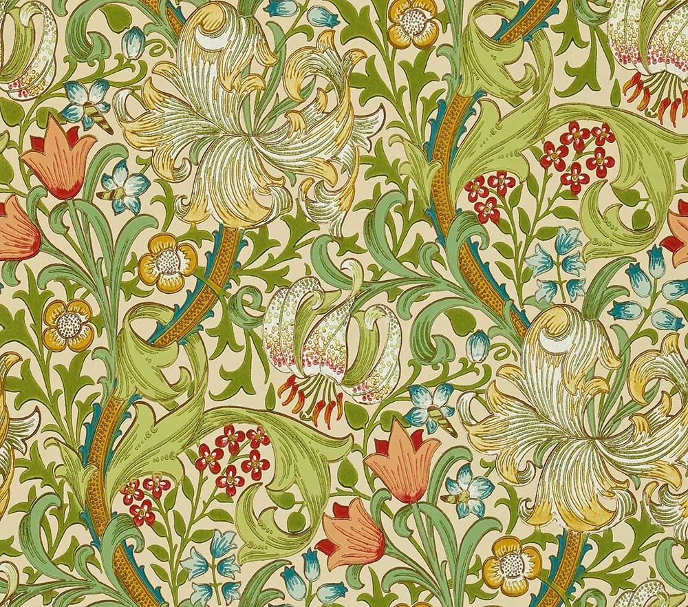 Morris Golden Lily Pale Biscuit Wallpaper main image