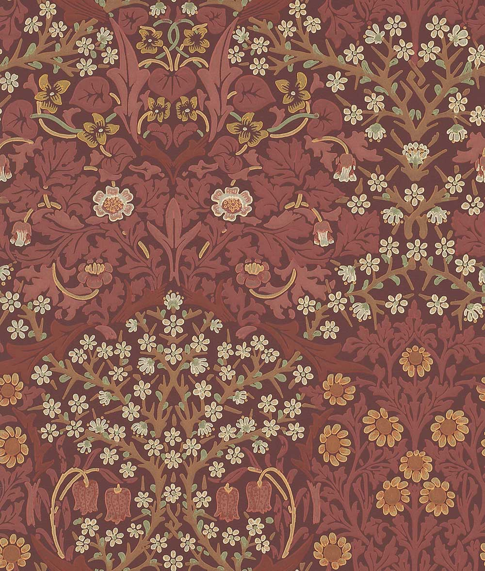 Morris Blackthorn Pink / Red Wallpaper main image