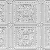 Anaglypta Turner Tile White Wallpaper