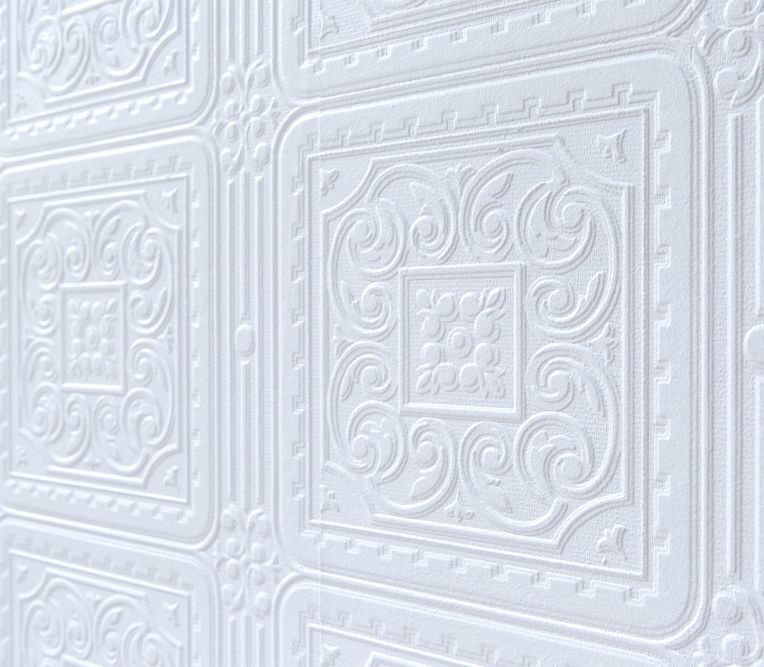 Anaglypta Turner Tile White Wallpaper extra image
