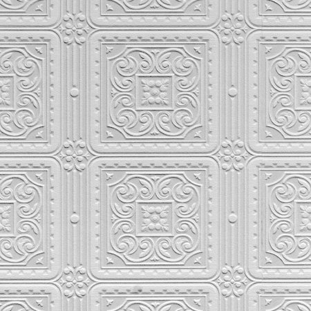 Anaglypta Turner Tile White Wallpaper main image