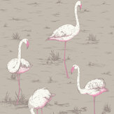 Cole & Son Flamingos Grey Wallpaper