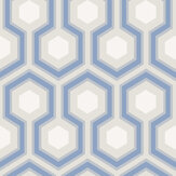 Cole & Son Hick's Hexagon Blue Wallpaper