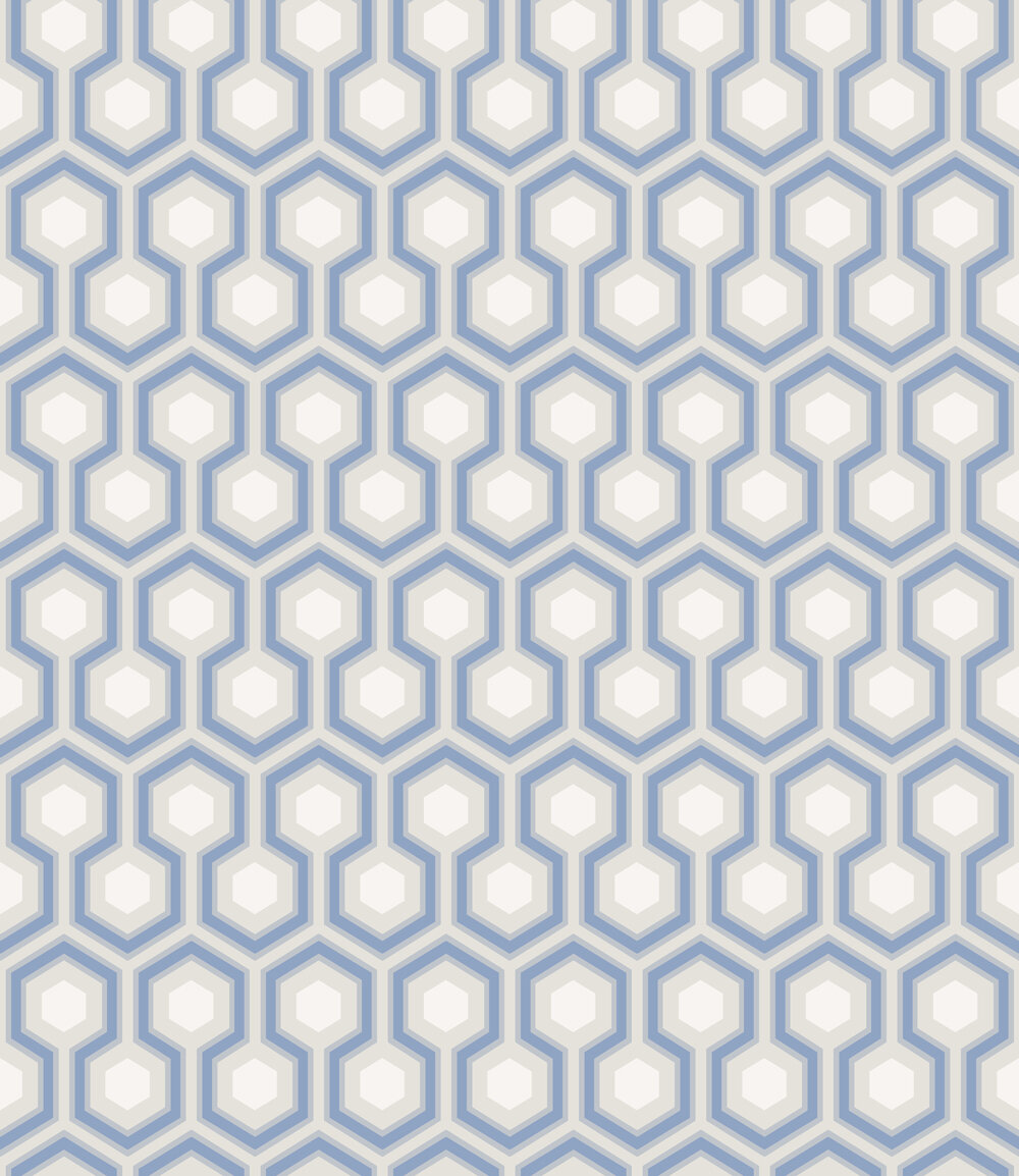 Cole & Son Hick's Hexagon Blue Wallpaper main image