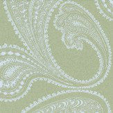 Cole & Son Rajapur White / Khaki Green Wallpaper