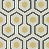 Cole & Son Hicks' Hexagon Black / Gold Wallpaper - Product code: 66/8056