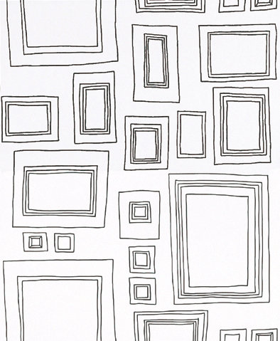 Frames by Kids @ Home - Black & White : Wallpaper Direct