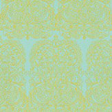 Cole & Son Alpana Yellow / Turquoise Wallpaper
