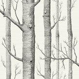 Cole & Son Woods Black / White Wallpaper - Product code: 69/12147