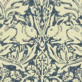 Morris Brer Rabbit Blue / Neutral Wallpaper