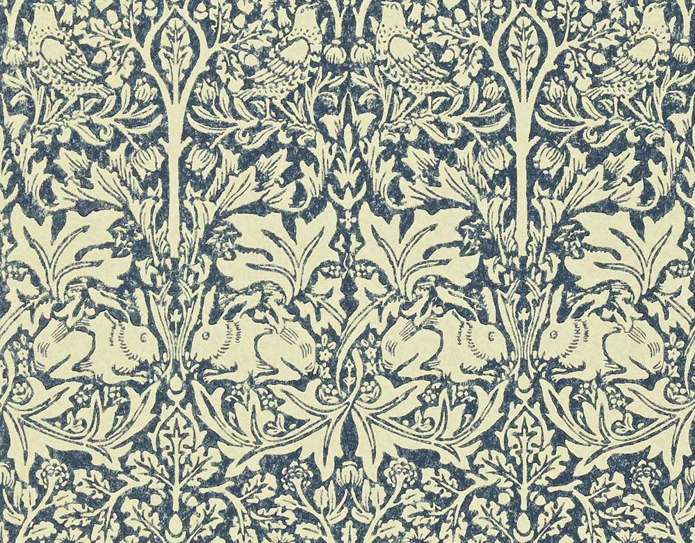 Morris Brer Rabbit Blue / Neutral Wallpaper - Product code: DMORBR105