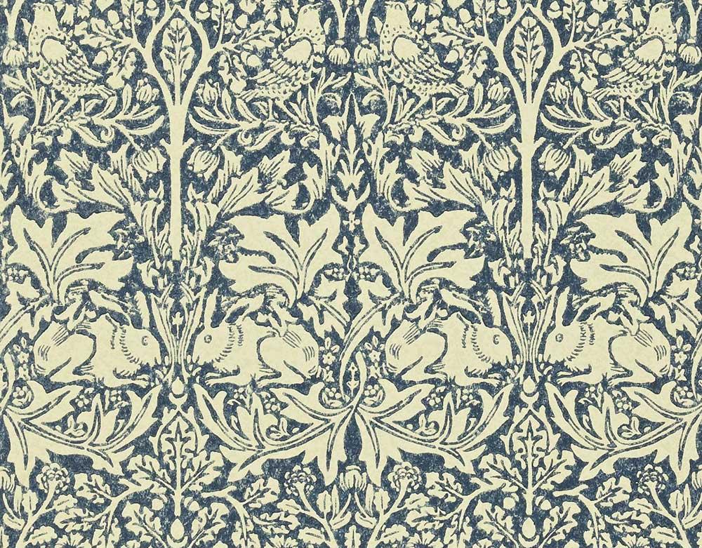 Morris Brer Rabbit Blue / Neutral Wallpaper main image