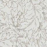 Morris Acanthus Scroll Charcoal / Ivory Wallpaper - Product code: DMORAC104