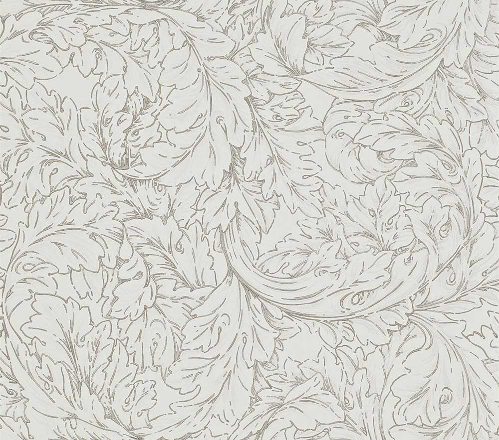 Morris Acanthus Scroll Charcoal / Ivory Wallpaper main image