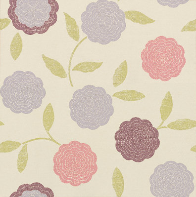 Osborne & Little Eranthe Pink / Purple Wallpaper - Product code: W5513/05