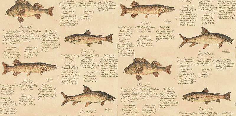 Image of Lewis & Wood Wallpapers European Freshwater Fishes 1846, W42-62