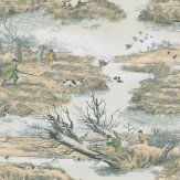 Lewis & Wood Alken Wildfowlers Beige / Off White Wallpaper