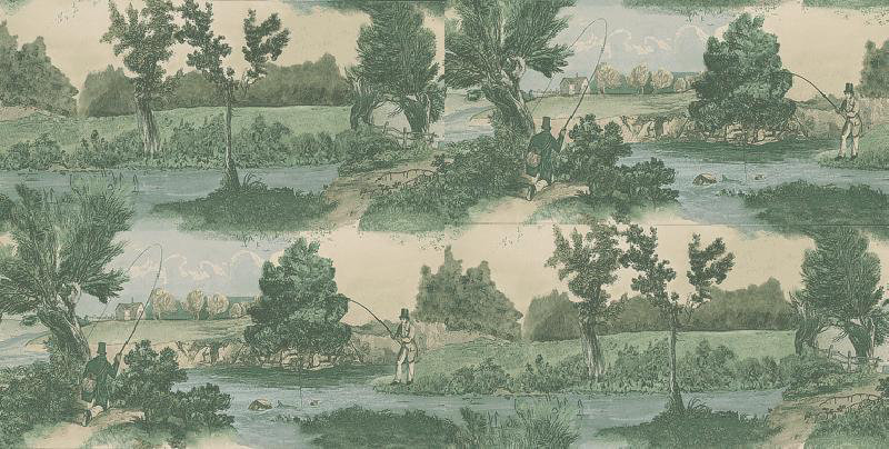 Image of Lewis & Wood Wallpapers Fly Fishing, LW97